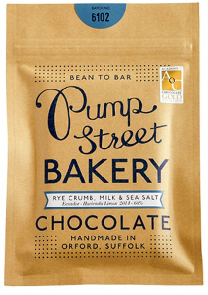 PUMP STREET BAKERY   Milchschokolade »Rye Crumb, Milk & Sea Salt« 60%