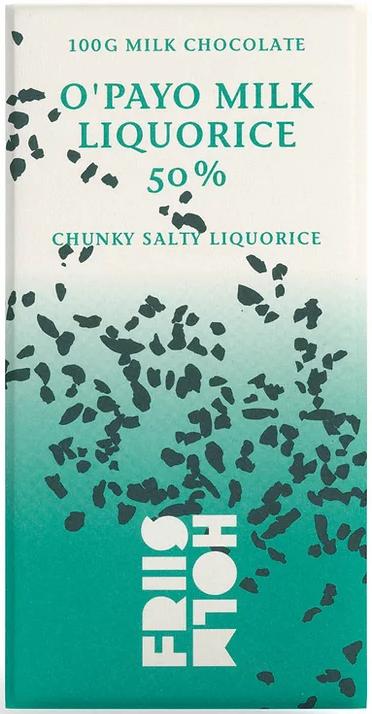 FRIIS-HOLM | Milchschokolade & Lakritze »O'Payo Milk Liquorice« 50%
