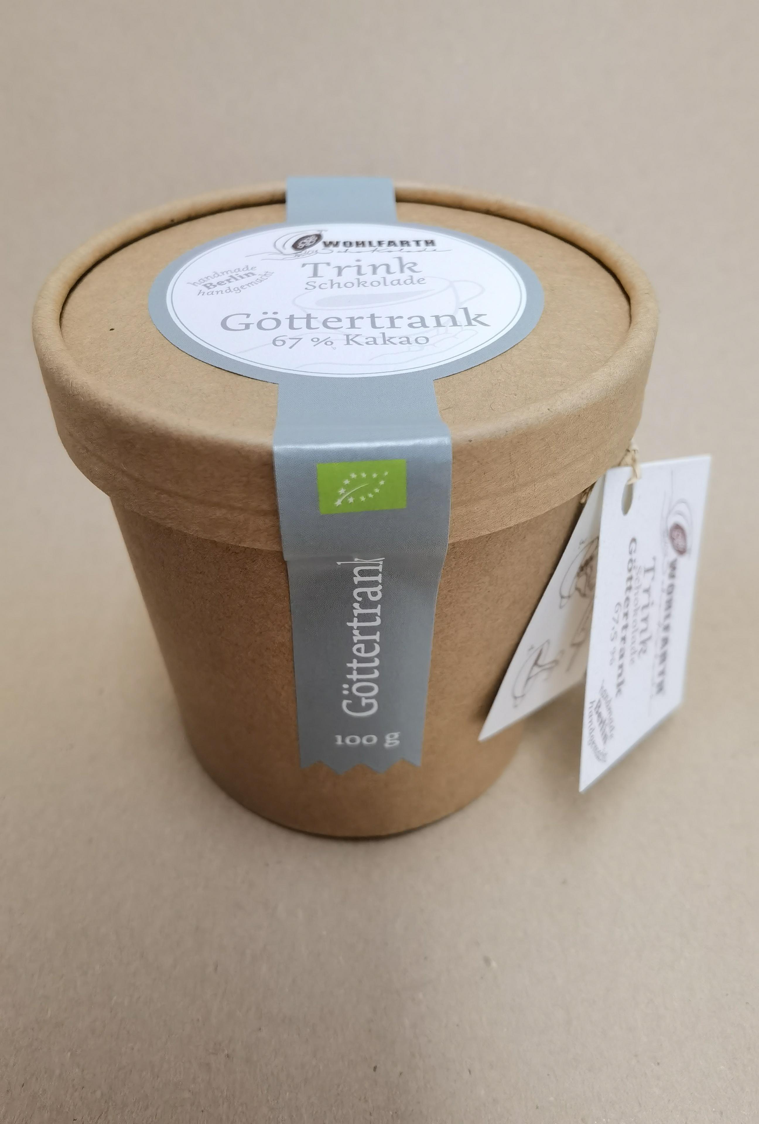 WOLFARTH Schokolade | Trinkschokolade »Göttertrank« 67% | BIO