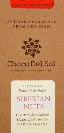 CHOCO DEL SOL | Dunkle Schokolade »Siberian Nuts« 82% | BIO