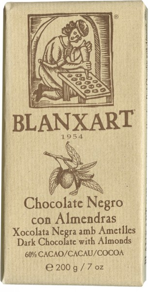 BLANXART   Dunkle Schokolade & Mandeln »Negro & Almendras« 60% - 200g