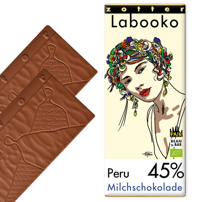 ZOTTER | »Labooko« Milchschokolade Peru 45% | BIO