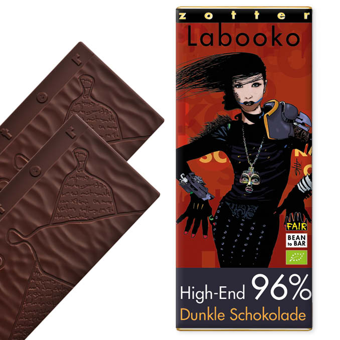 ZOTTER   »Labooko« Dunkle Schokolade 96% High-End   BIO