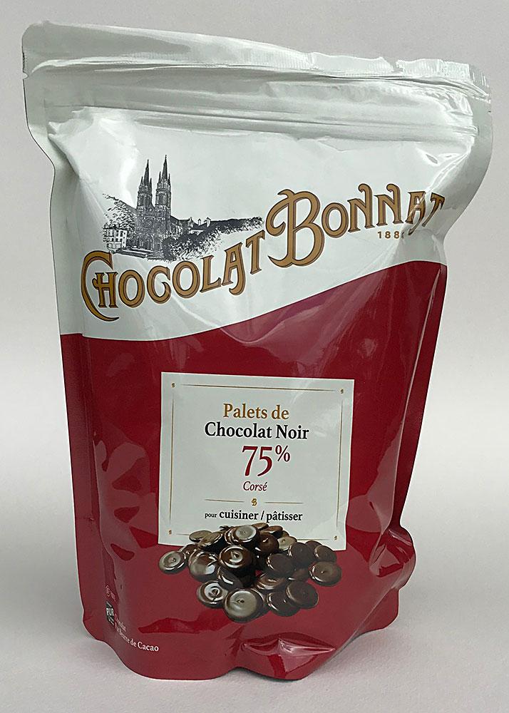 BONNAT | Schokoladendrops »Chocolat pour Pâtisser« 75% - 1kg