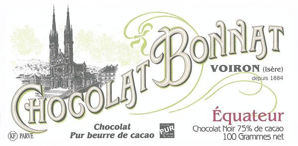 BONNAT Dunkle Schokolade | Chocolat »Equateur« 75%