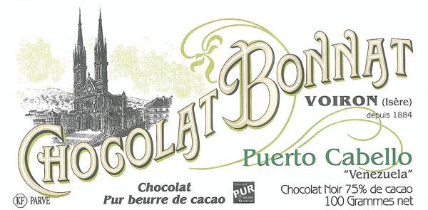 BONNAT Dunkle Schokolade | Chocolat »Puerto Cabello« 75%