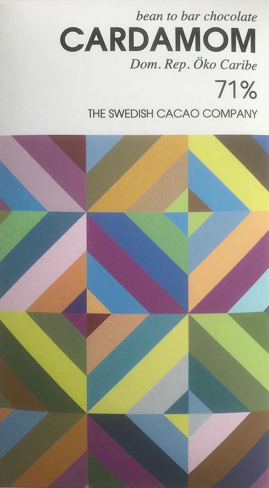 THE SWEDISH CACAO COMPANY   Dunkle Schokolade »Cardamom« 71%