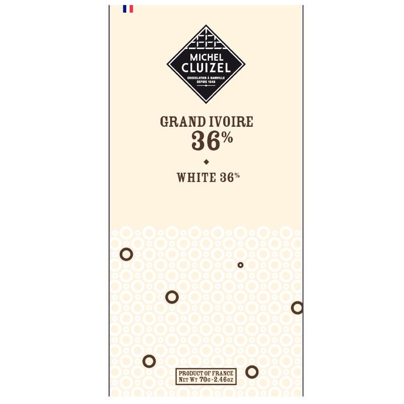 MICHEL CLUIZEL | Weiße Schokolade »Ivoire White« 36%