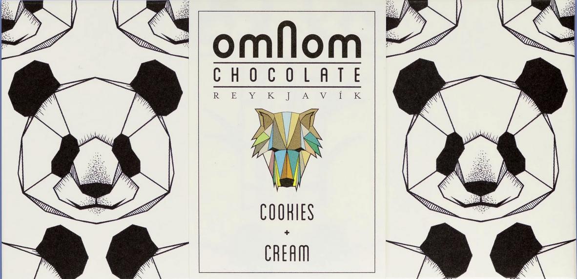 OMNOM Chocolate   Weiße Schokolade »Cookies & Cream« 30%