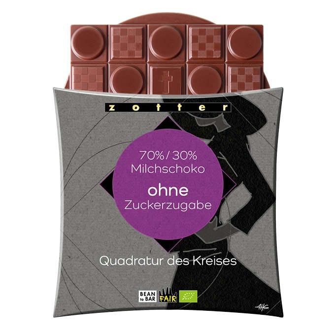 ZOTTER »Quadratur des Kreises«  70% | 30% ohne Zucker | BIO
