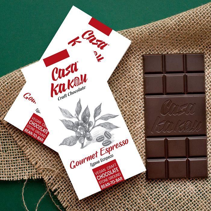 CASA KAKAU | Dunkle Schokolade »Gourmet Espresso« 64%