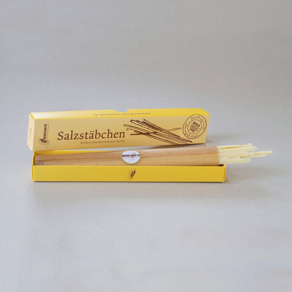 WOLFARTH Schokolade | Weiße Schokolade »Salzstäbchen« 38% | BIO