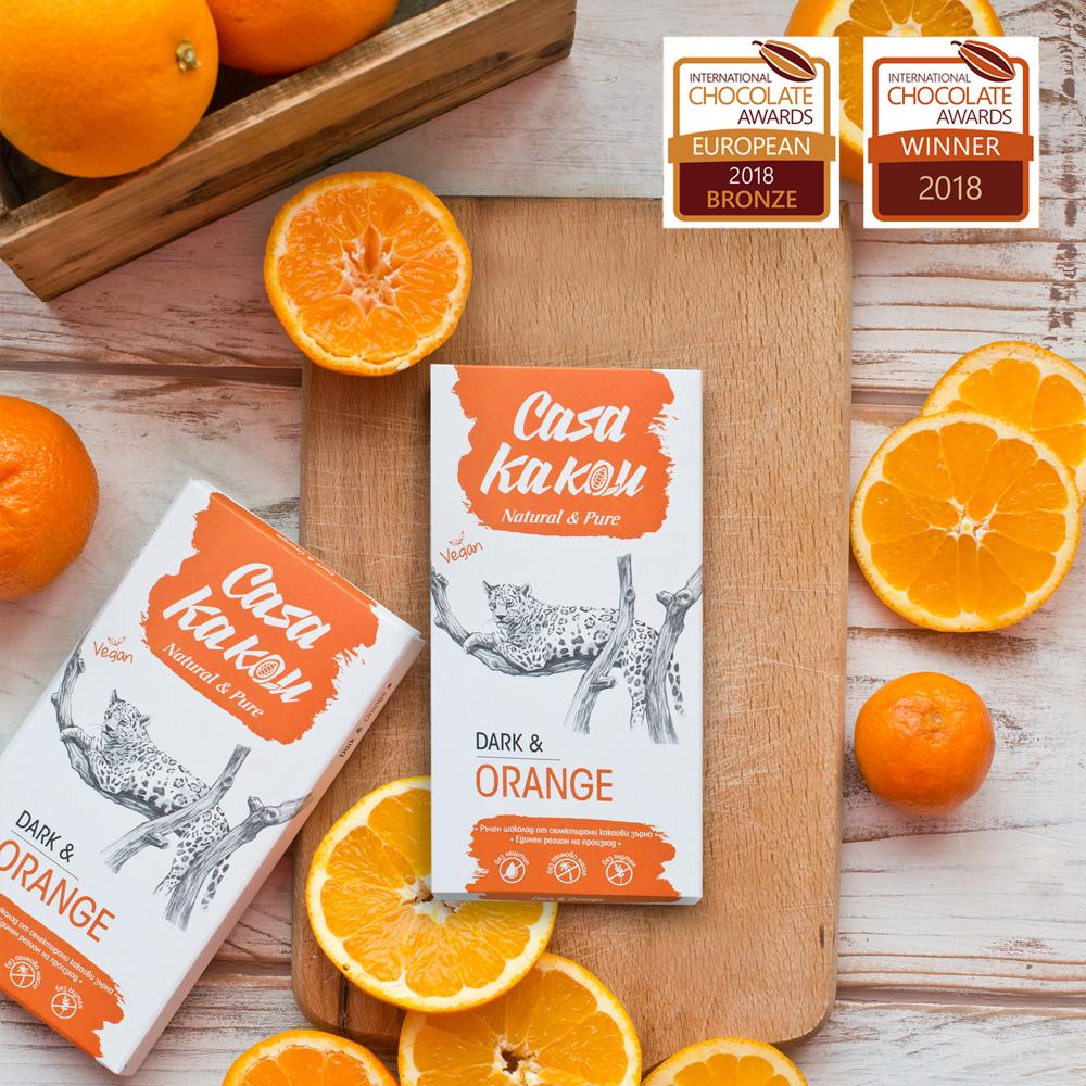 CASA KAKAU | Dunkle Schokolade »Dark & Orange« 70%