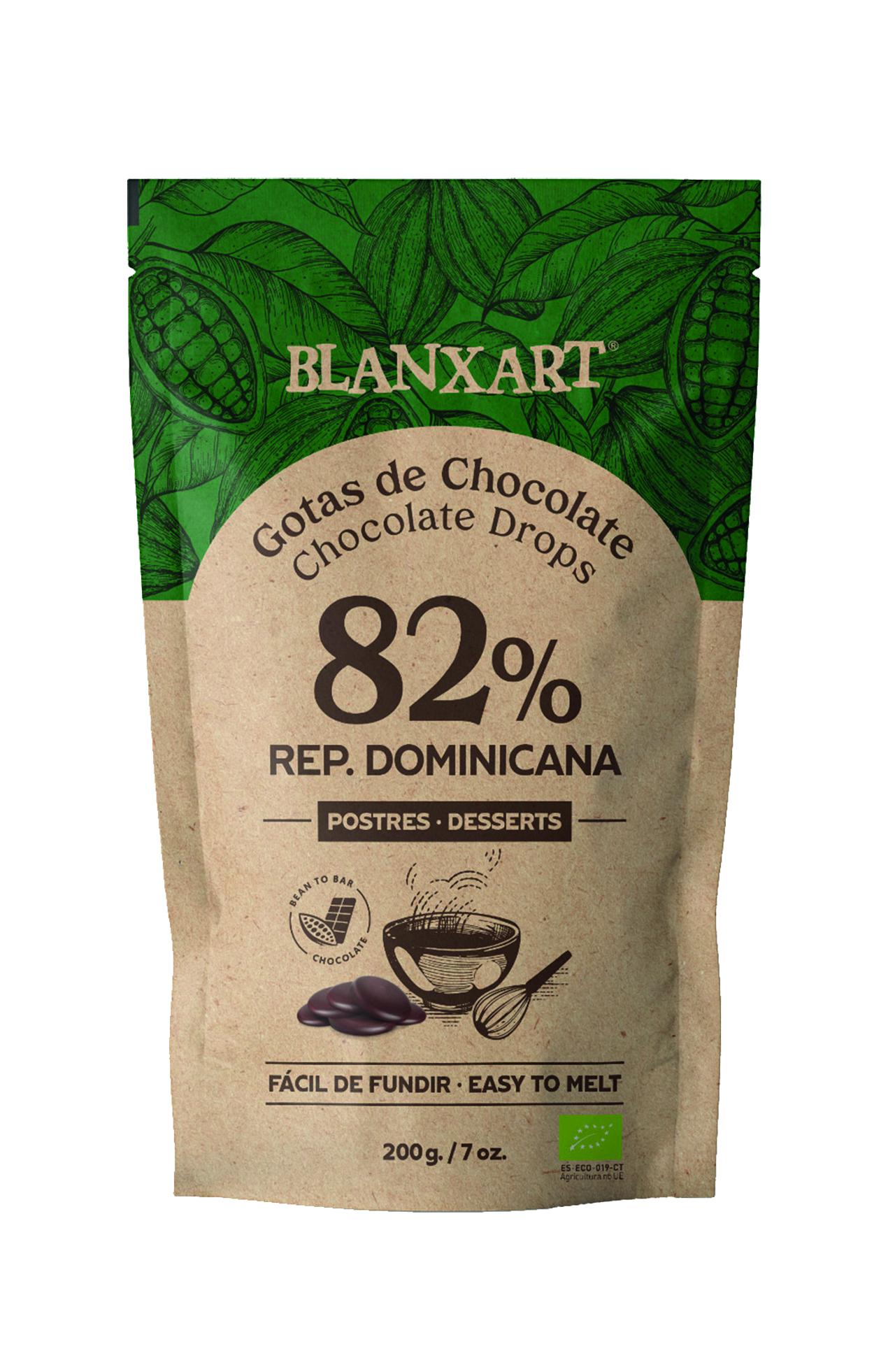 BLANXART   Schokoladendrops »Rep. Dominicana« 82%