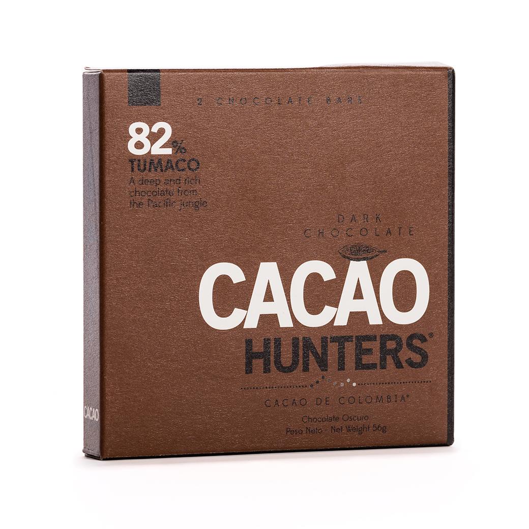 CACAO HUNTERS | Dunkle Schokolade »Tumaco« 82%