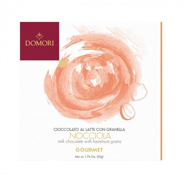 DOMORI | Gourmet »Nocciola« Milchschokolade & Haselnuss 50g MHD 31.10.2021