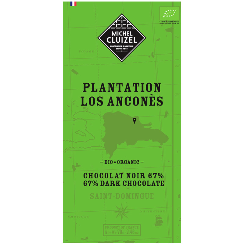 MICHEL CLUIZEL | Dunkle Schokolade »Plantation Los Anconés« 67%