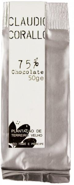 CLAUDIO CORALLO   Edelbitterschokolade 75% Kakao 50g
