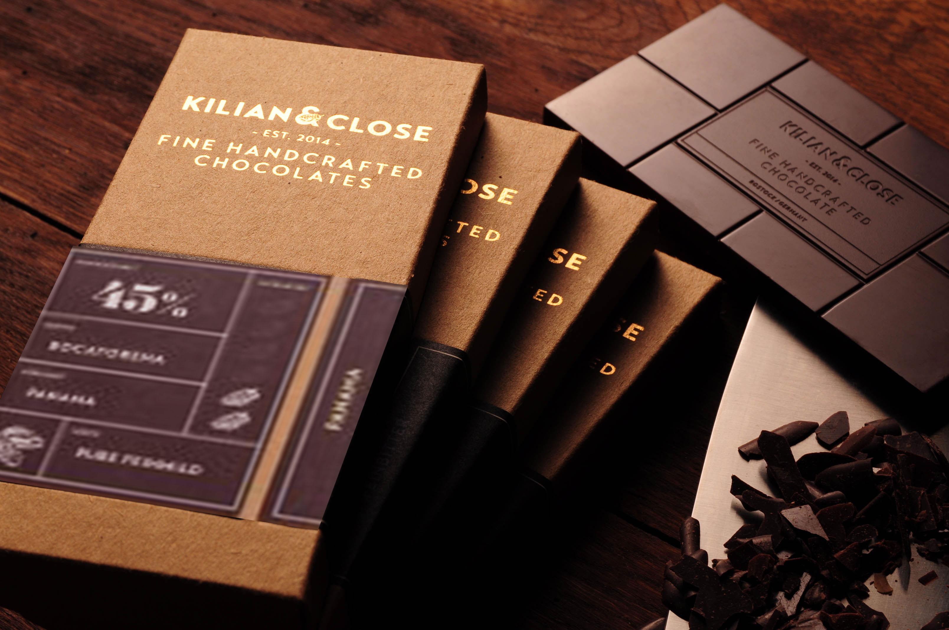KILIAN & CLOSE | Schokolade mit gerösteten Kakaonibs 48% | BIO