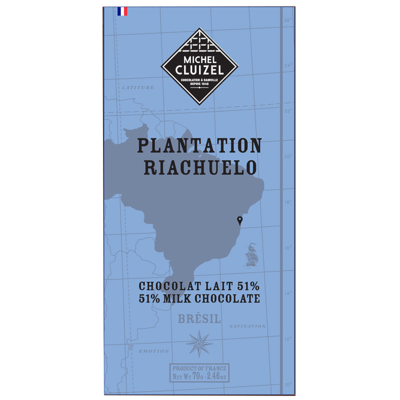 MICHEL CLUIZEL Milchschokolade | Plantation »Riachuelo« 51%