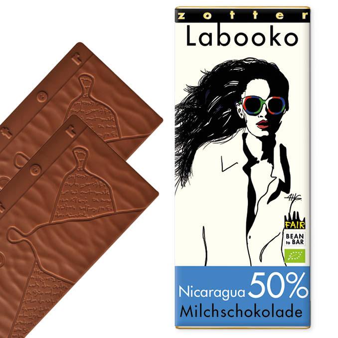 ZOTTER | »Labooko« Milchschokolade Nicaragua 50% | BIO