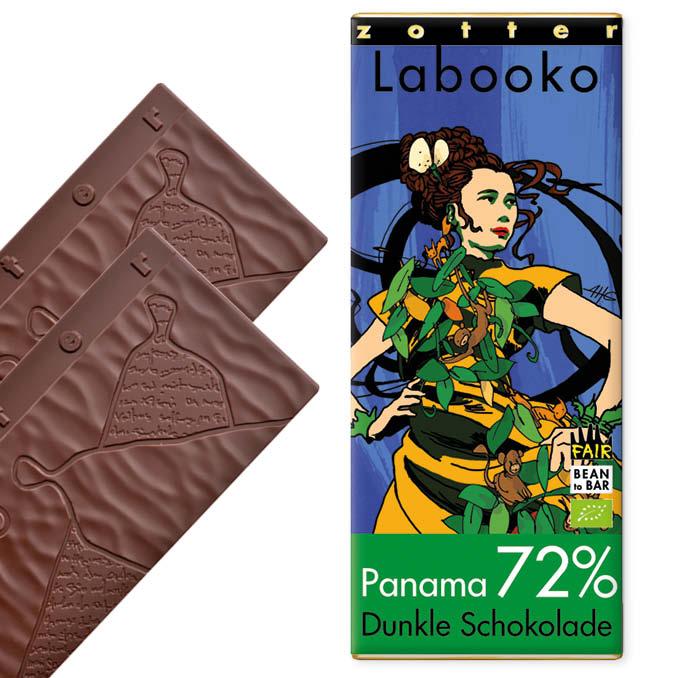 ZOTTER   »Labooko« Schokolade Panama 72%   BIO   MHD 06.11.2021