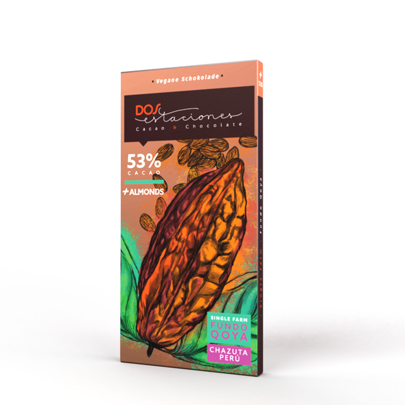 DOS ESTACIONES | Schokolade & Mandeln »Almonds« 53%
