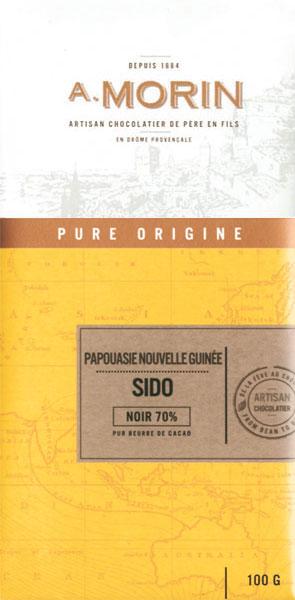 A. MORIN   Dunkle Schokolade »Sido Papua-Neuguinea« 70%