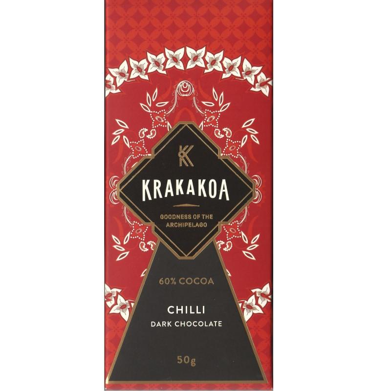 KRAKAKOA   Dunkle Schokolade »Chilli« 60%