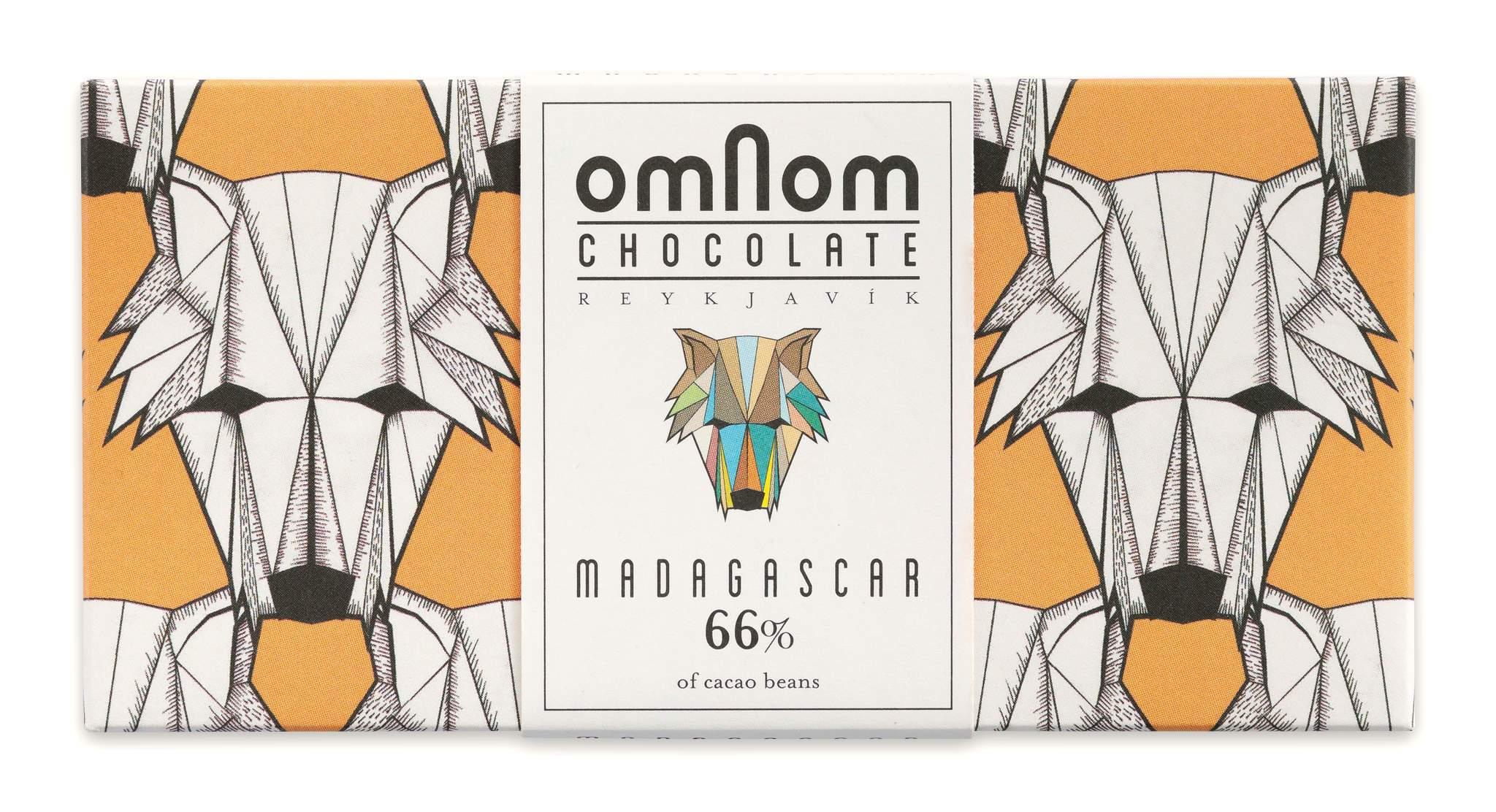 OMNOM Chocolate   Dunkle Schokolade »Madagascar« 66%