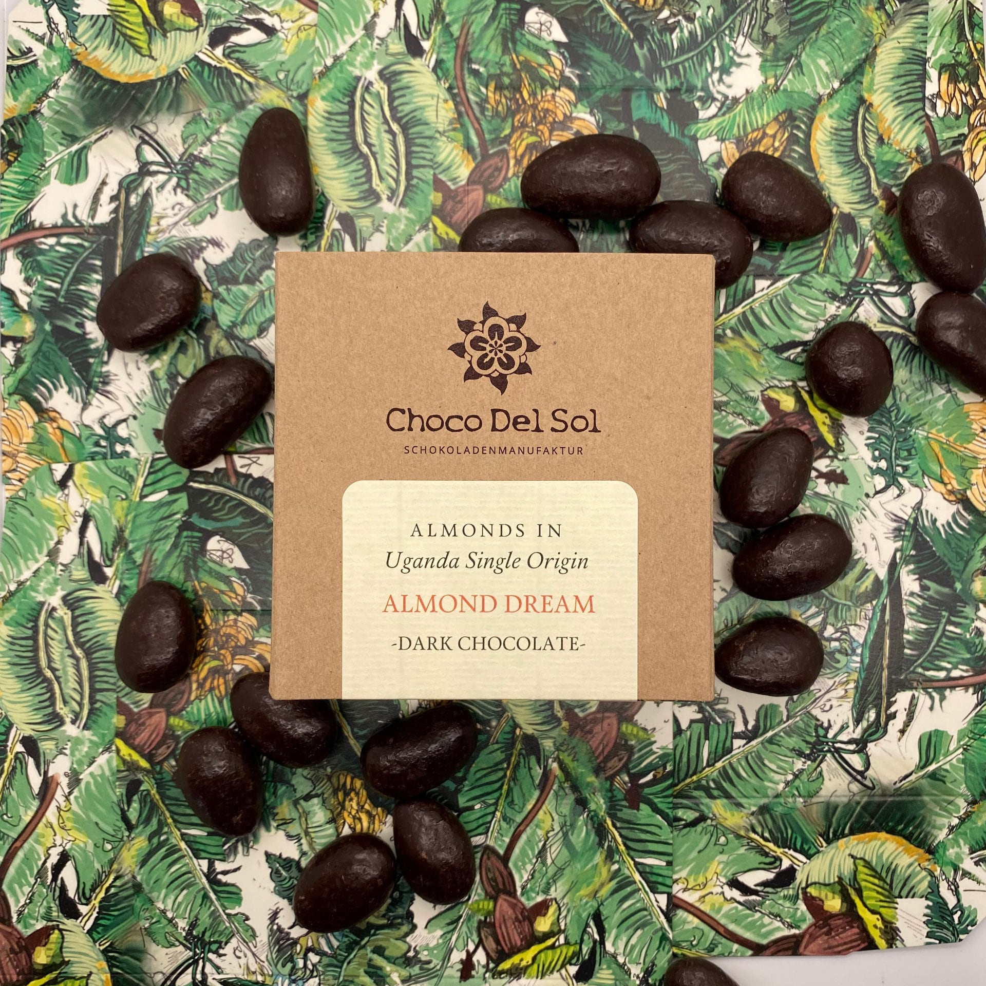 CHOCO DEL SOL | Schokoladendragees Kakaobohnen & Schokolade »Happy Beans Dark« 78% | BIO