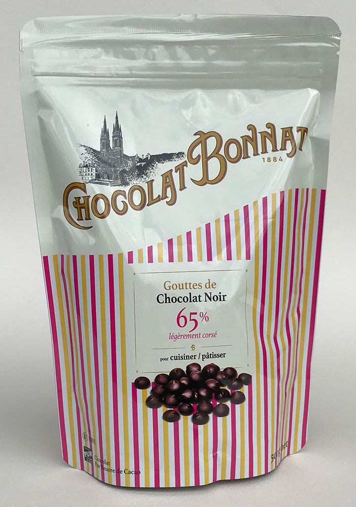 BONNAT   Schokoladentropfen Trinkschokolade  »Chocolat Noir« 65% 500g