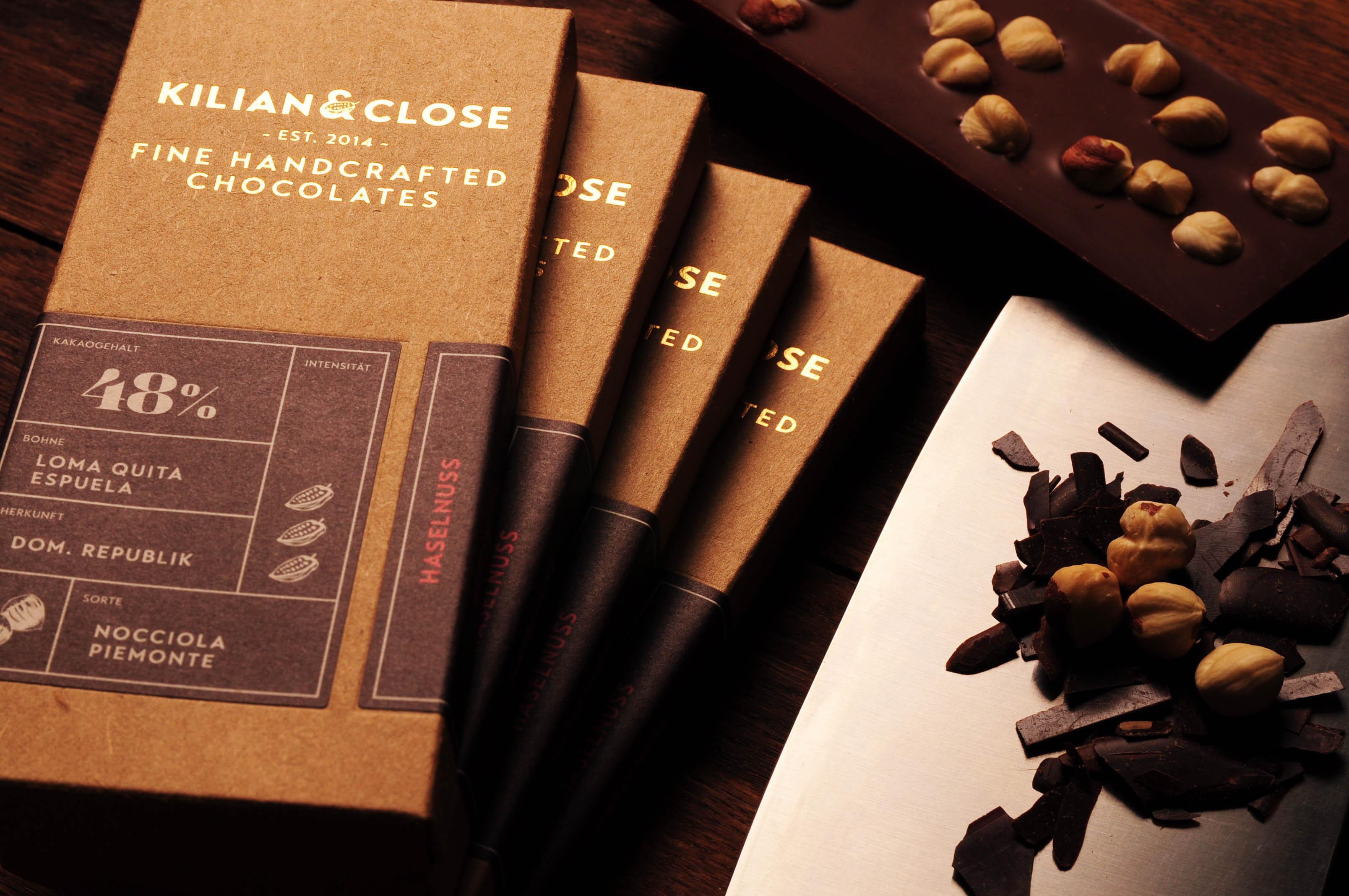 KILIAN & CLOSE | Schokolade mit Haselnüssen 48% | BIO