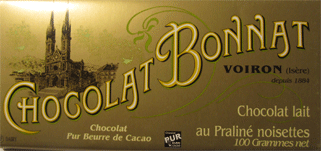 BONNAT Milchschokolade | mit Praliné & Haselnüssen »Lait au Praliné noisettes«