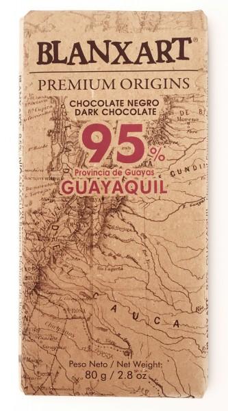BLANXART   Dunkle Schokolade »Ecuador Guayaquil« 95% - 80g
