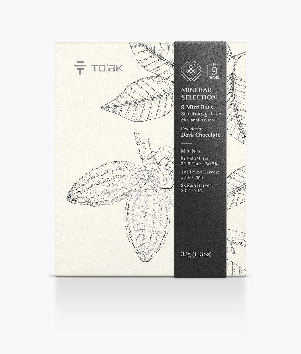 TO'AK Schokolade »Mini Bar Selection« 9 Mini-Tafeln