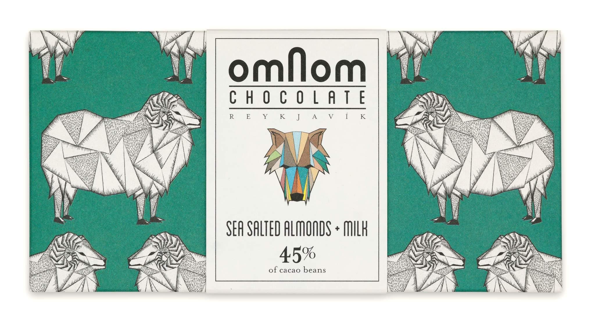OMNOM Chocolate | Milchschokolade »Sea Salted Almonds & Milk« 32%