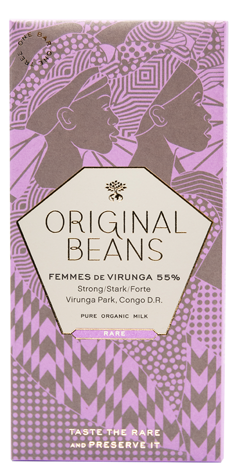 ORIGINAL BEANS | Milchschokolade »Femmes de Virunga« 55% BIO