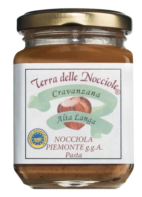 TERRA delle NOCCIOLE | Haselnußcreme »Pasta di nocciole Piemonte« 100% Haselnuss 200g