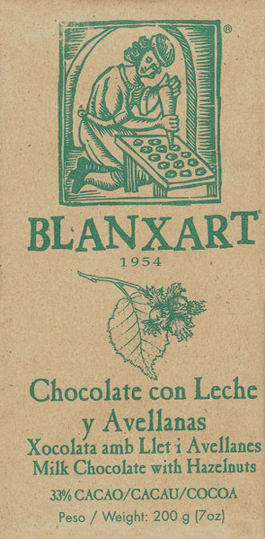 BLANXART   Milchschokolade mit ganzen Haselnüssen 200g