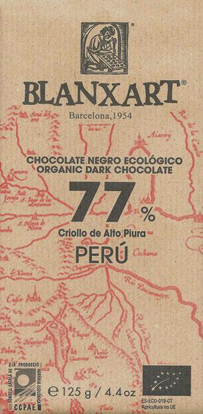 BLANXART   Dunkle Schokolade 77% Criollo de Alto Piura »PERU« BIO - 125g