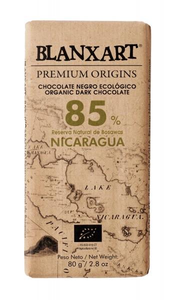 BLANXART   Dunkle Schokolade »Nicaragua« 85%    BIO   125g