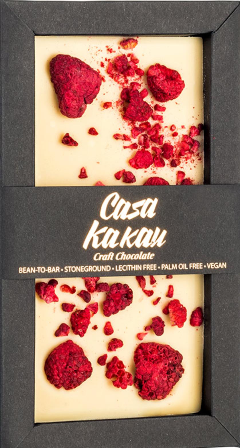 CASA KAKAU | Weiße Schokolade mit »Himbeeren« 35%