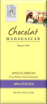 Chocolat MADAGASCAR Weiße Schokolade »Gold Chocolate« 45%
