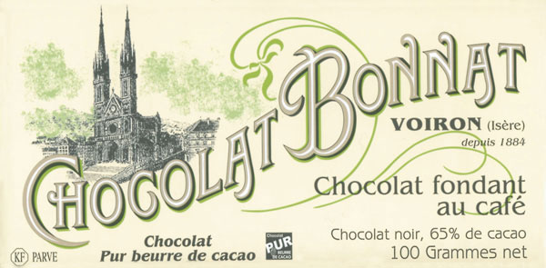 BONNAT Dunkle Schokolade & Kaffee | Chocolat »fondant au café« 65%