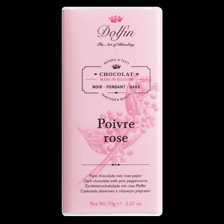 DOLFIN   Dunkle Schokolade & rosa Pfeffer »Poivre rose« 60%