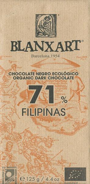 BLANXART   Dunkle Schokolade »Filipinas« 71% 125g