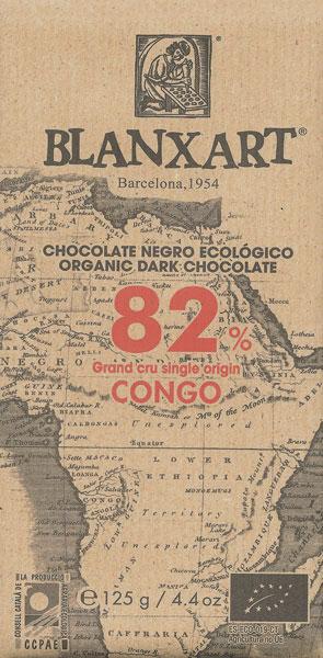 BLANXART   Dunkle Schokolade 82% Grand Cru Single Orgin »CONGO« BIO - 125g