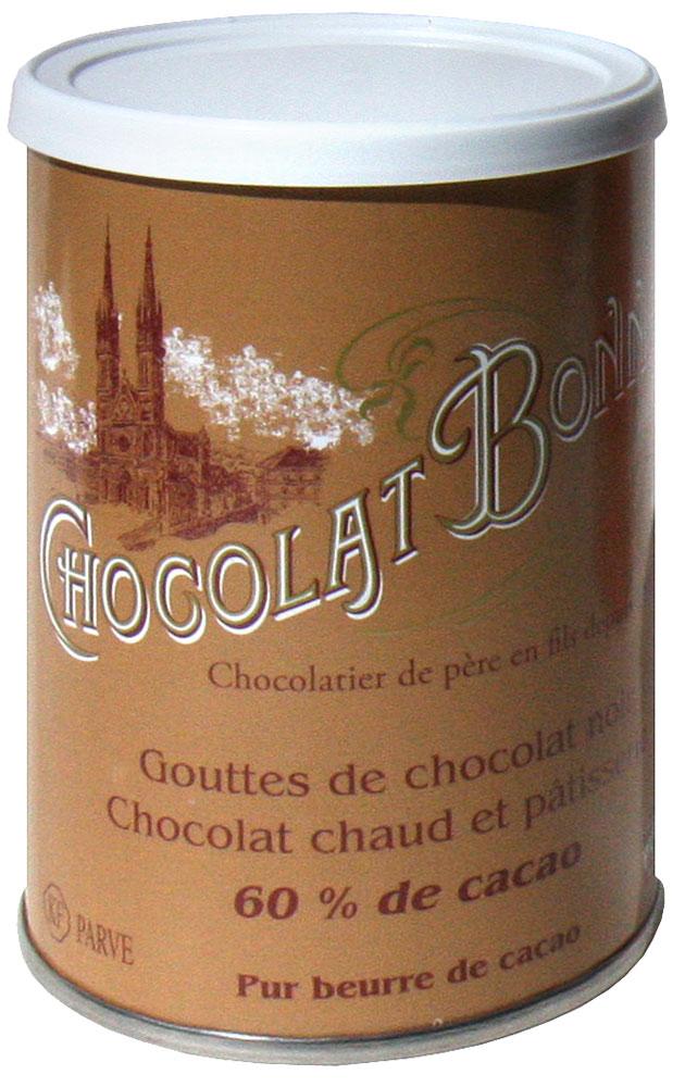 BONNAT Chocolat | Trinkschokolade »Gouttes de Chocolat noir« 60% Kakao - 250g
