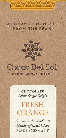 CHOCO DEL SOL | Dunkle Schokolade »Fresh Orange« | BIO